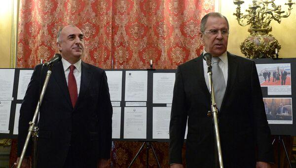 Министр иностранных дел РФ Сергей Лавров и министр иностранных дел Азербайджана Эльмар Мамедъяров во время встречи в Москве. 6 марта 2017