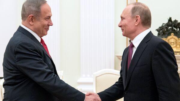 Президент РФ Владимир Путин и премьер-министр Израиля Биньямин Нетаньяху. Архивное фото