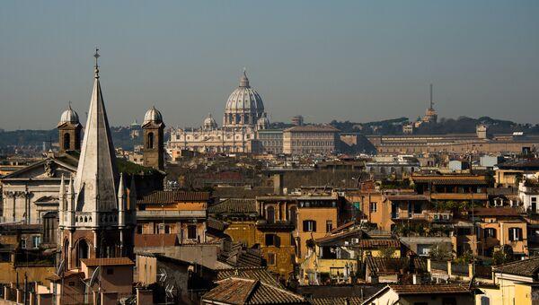 Вид Рима, Италия. Архивное фото