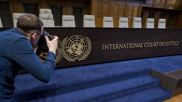 Зал заседаний в Международном суде ООН в Гааге. Архивное фото