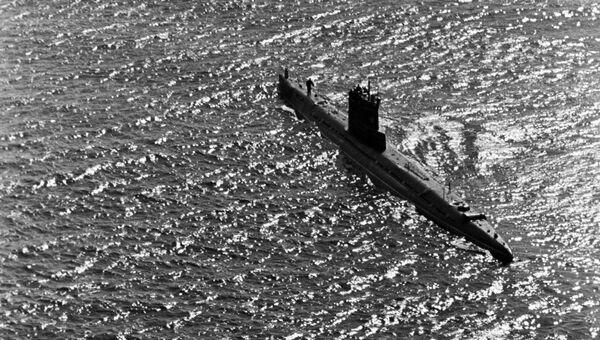 Подводная лодка во время учений