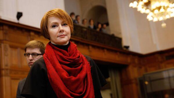 Представитель Киева в Международном суде ООН, заместитель министра иностранных дел Украины Елена Зеркаль. Архивное фото