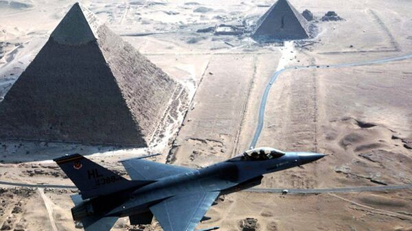 Истребитель F-16 ВВС Египта. Архивное фото