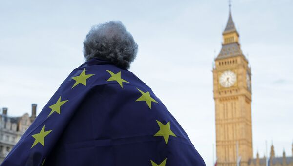 Акция протеста у здания Парламента в Лондоне. Архивное фото