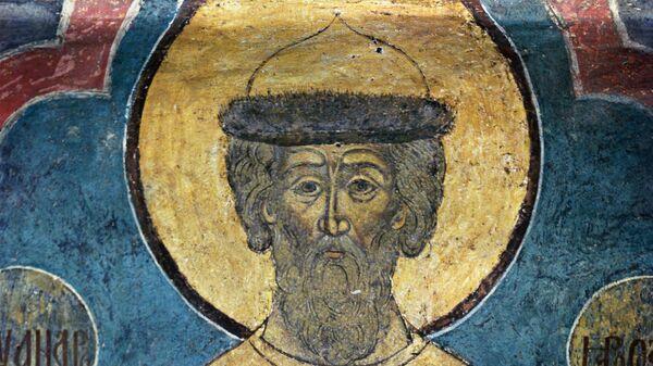 Фрагмент фрески Александр Невский