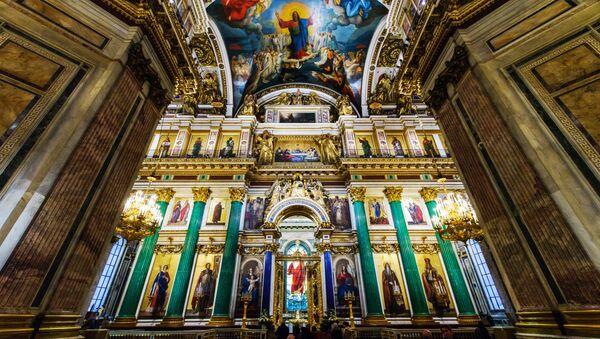 Главный иконостас и царские врата Исаакиевского собора