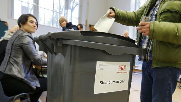 Голосование на одном из избирательных участков в Гааге, Нидерланды. 15 марта 2017
