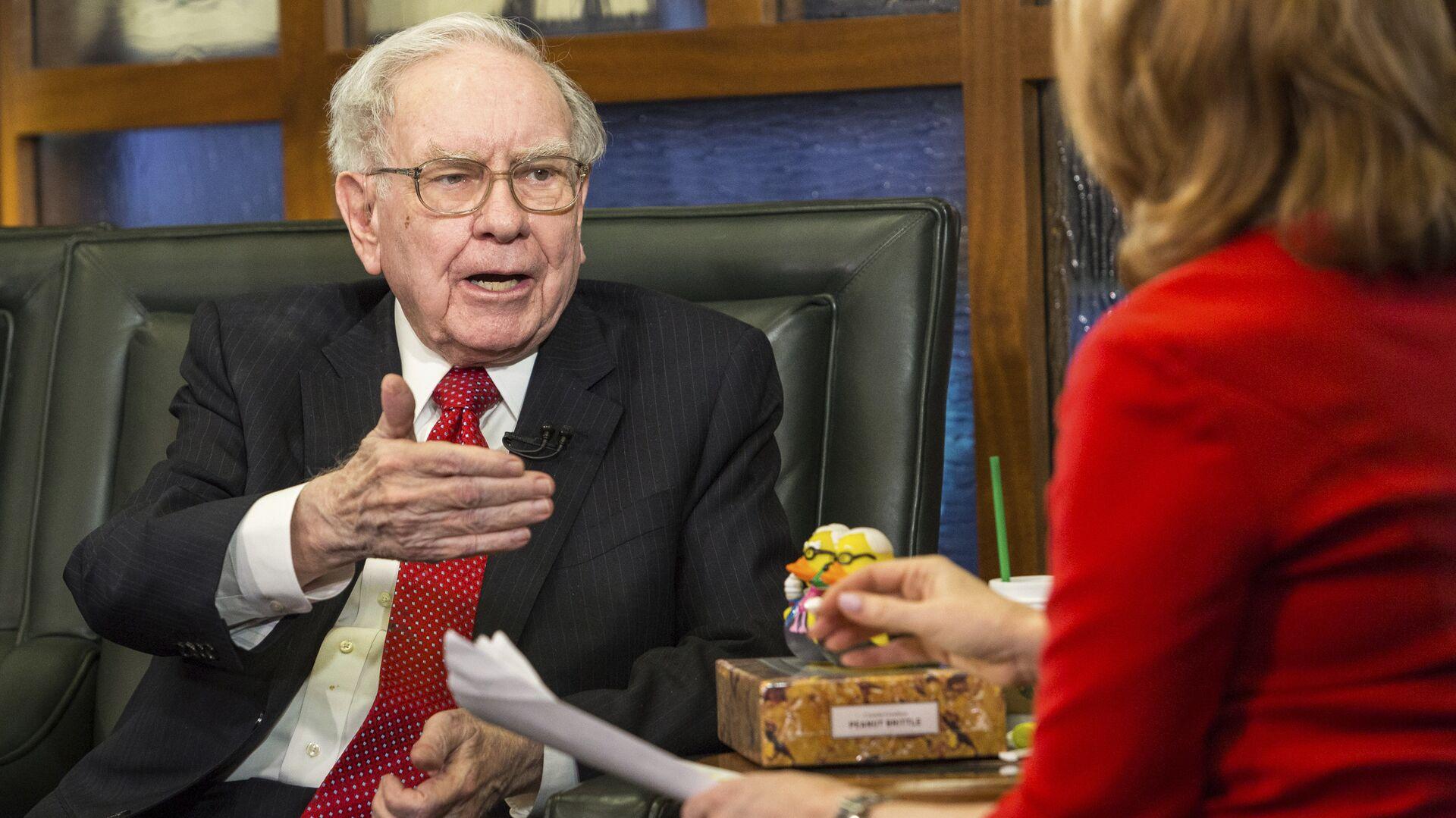 Американский предприниматель, крупнейший в мире и один из наиболее известных инвесторов Уоррен Баффетт - РИА Новости, 1920, 27.02.2021