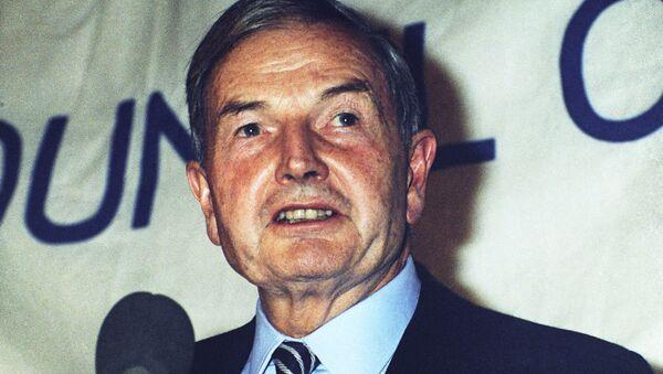 Американский миллиардер Дэвид Рокфеллер