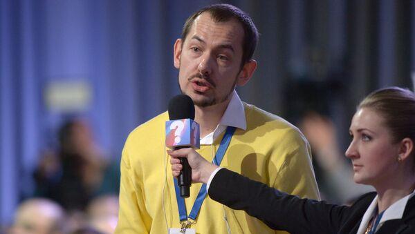 Журналист украинского информационного агенства УНИАН Роман Цимбалюк. Архивное фото