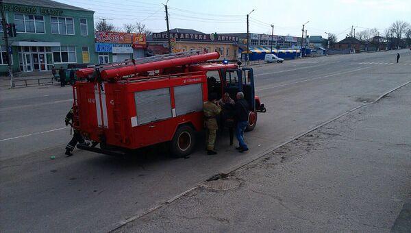 Пожарная машина на Украине. Архивное фото