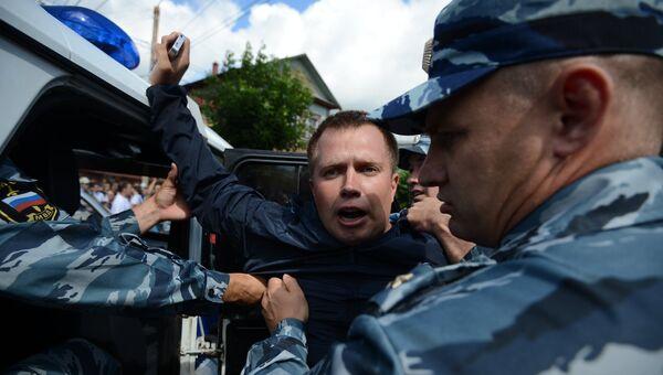 Лидер столичного отделения незарегистрированной Партии прогресса Николай Ляскин. Архивное фото