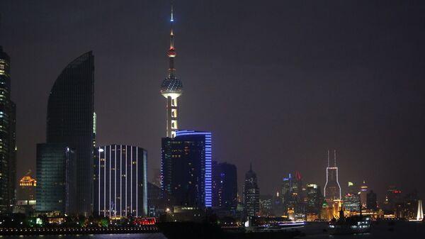 Ночной вид Шанхая