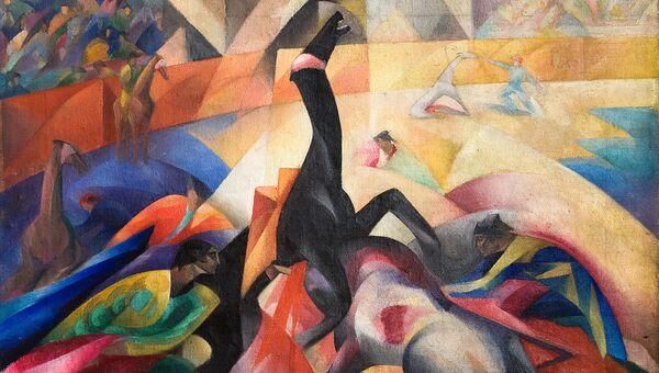 Работа художника Владимира Бехтеева Бой быков