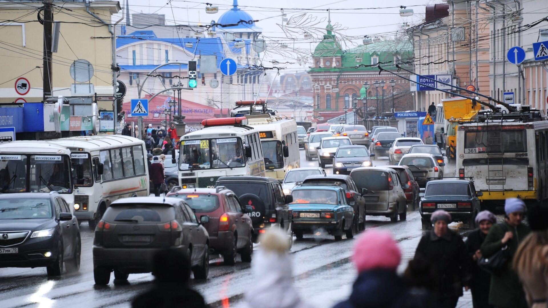 Одна из улиц города Томск - РИА Новости, 1920, 14.09.2021