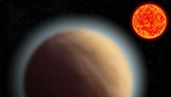 Так художник представил себе атмосферу планеты GJ 1132b. Архивное фото
