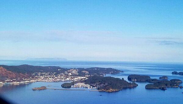 Кадьяк. Вид на остров с воздуха