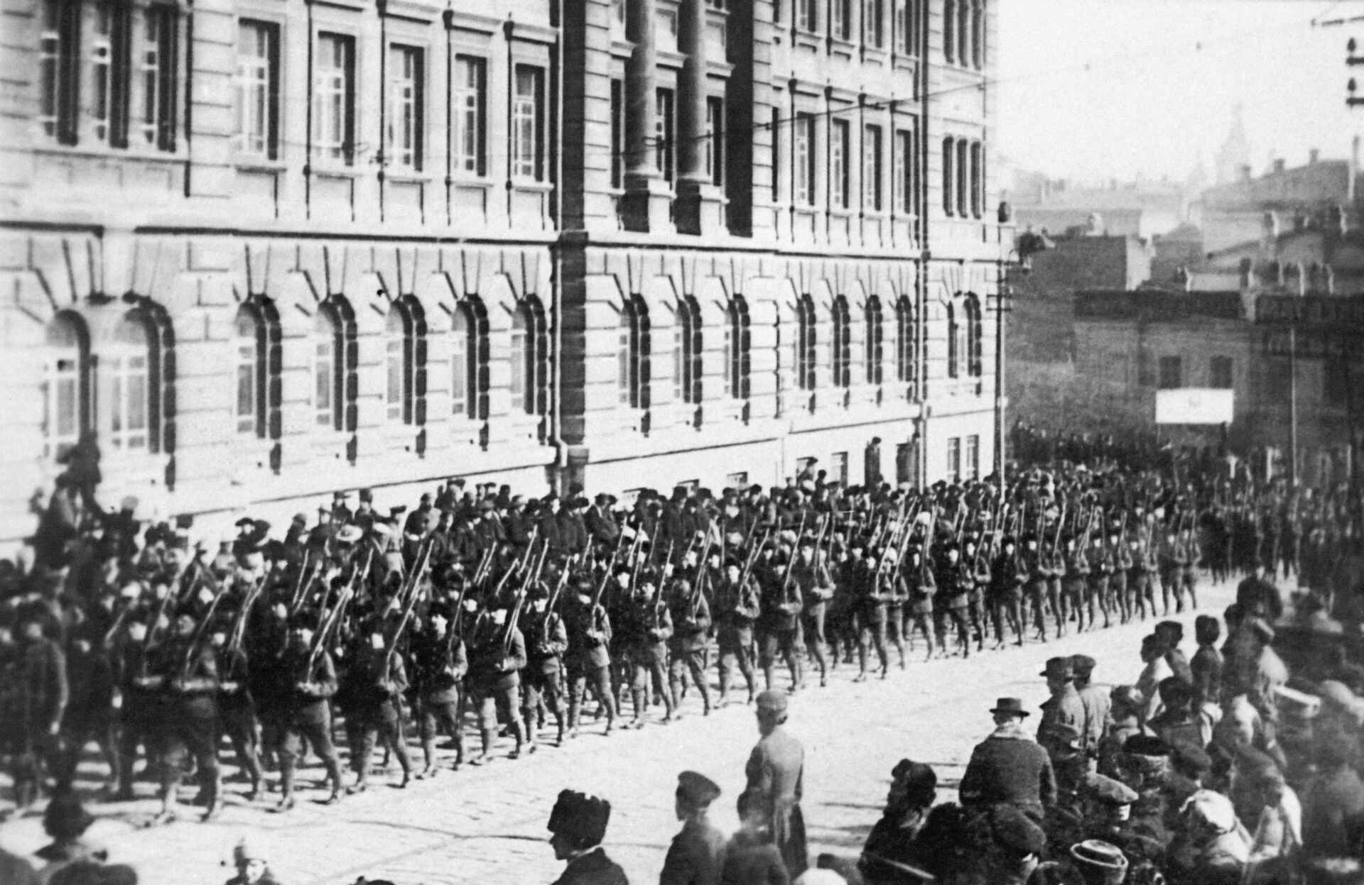Американские оккупационные войска во Владивостоке. Военная интервенция. Апрель 1918 года  - РИА Новости, 1920, 11.07.2021