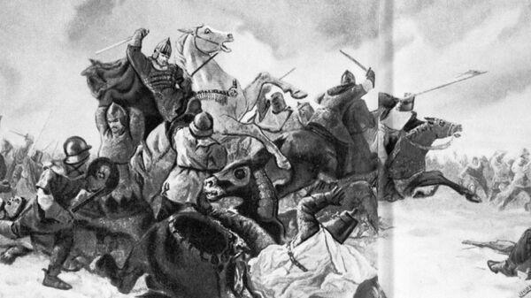 Репродукция картины Юрия Трузе Ледовое побоище