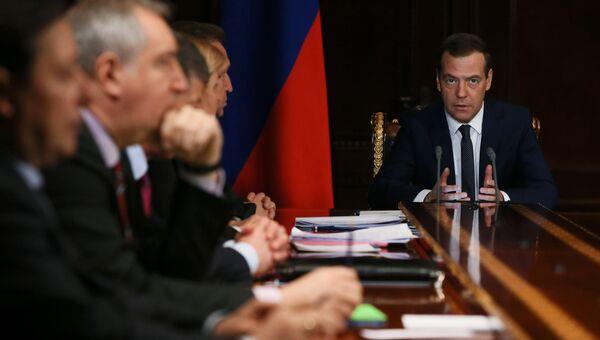 Премьер-министр РФ Д. Медведев проводит совещание с вице-премьерами РФ. 17 апреля 2017
