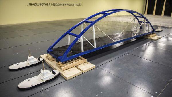 Модель транспортировки судоходных арок Крымского моста