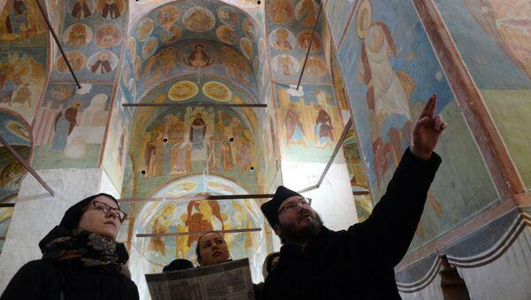 В музее фресок Дионисия на территории Ферапонтова Белозерского Богородице-Рождественского монастыря