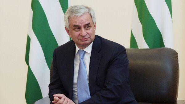 Президент Республики Абхазия Рауль Хаджимба. Архивное фото