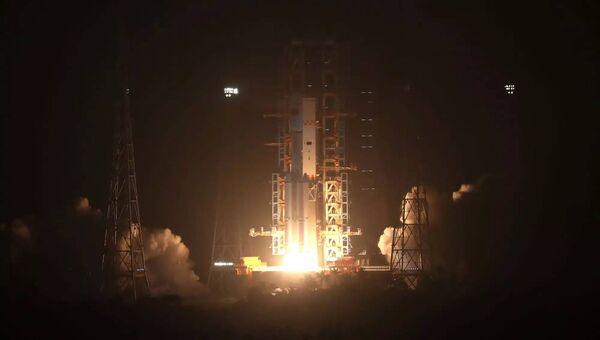 Запуск первого грузового космического корабля Тяньчжоу-1 в Китае. Архивное фото