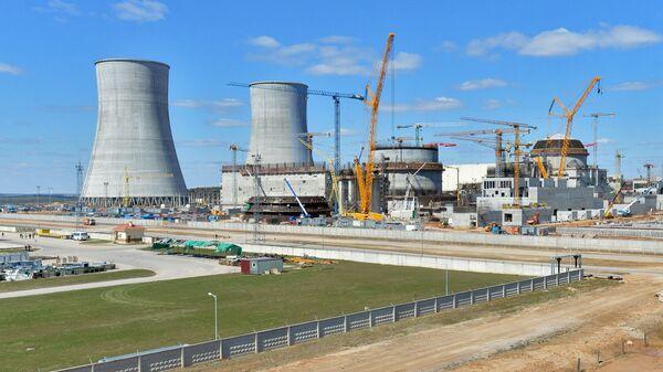Возведение 1-го и 2-го энергоблоков Белорусской АЭС возле города Островец