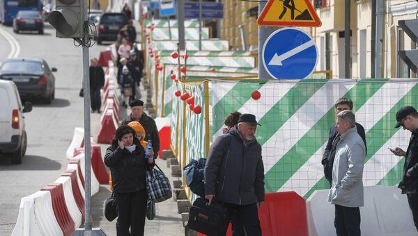 Масштабная реконструкция на улице Пречистенка в Москве. Архивное фото