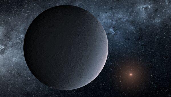 Так художник представил себе новую планету OGLE-2016-BLG-1195Lb, обнаруженную с помощью микролинзирования