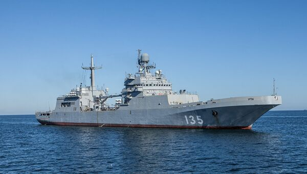 Большой десантный корабль (БДК) проекта 11711. Архивное фото