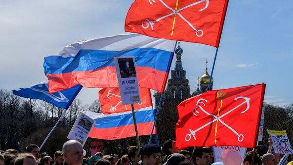 Акция против передачи Исаакиевского собора в Санкт-Петербурге