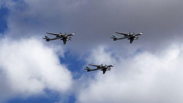 Стратегические бомбардировщики-ракетоносцы Ту-95 МС. Архивное фото