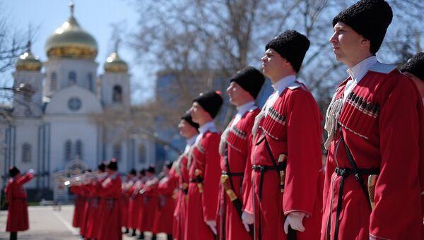 Во время церемонии Час славы Кубани в Краснодаре