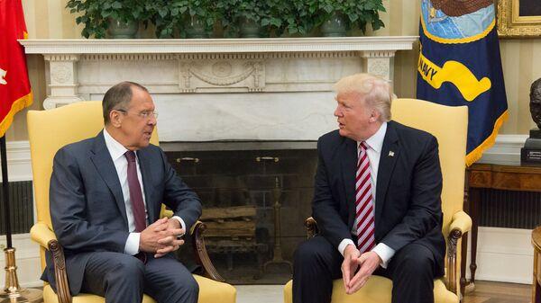 Встреча министра иностранных дел России Сергея Лаврова и президента США Дональда Трампа