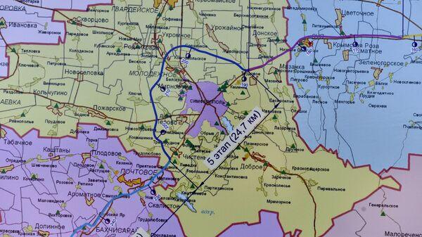 Карта будущей федеральной трассы Таврида в Крыму