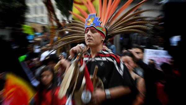 Марш коренных народов Америки против строительства газопровода Dakota Access