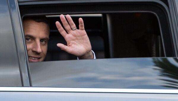 Президент Франции Эммануэль Макрон после церемонии инаугурации в Париже. Архивное фото