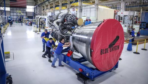 Двигатель BE-4 Blue Origin. Архивное фото