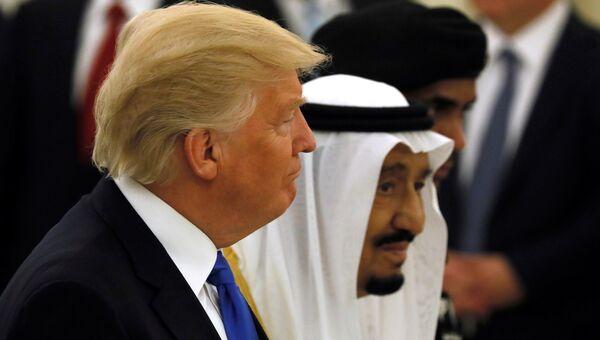 Дональд Трамп и король Саудовской Аравии Салман. Архивное фото