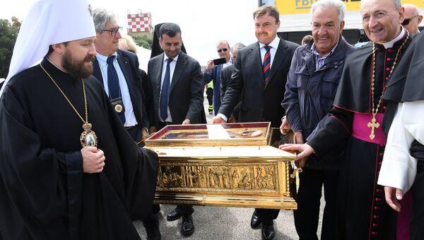 Отправка мощей Николая Чудотворца из Италии в Россию