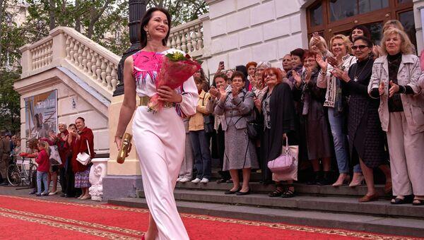 Актриса Ольга Кабо на открытии XXVI Международного Кинофорума Золотой Витязь в Севастополе