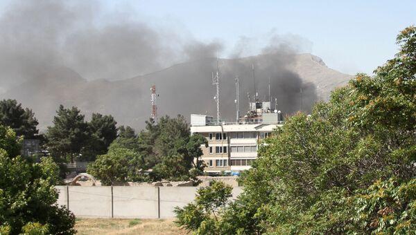Дым после взрыва в Кабуле, Афганистан. 31 мая 2017