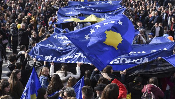Празднование 9-й годовщины независимости Республики Косово в Приштине, 17 февраля 2017 года