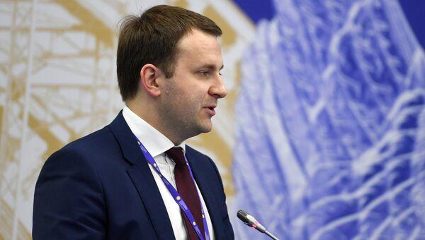 Министр экономического развития Российской Федерации Максим Орешкин во время бизнес-диалога Россия-Япония в рамках ПМЭФ-2017