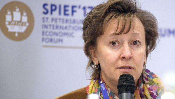 Член коллегии по торговле, Евразийской экономической комиссии Вероника Никишина на Санкт-Петербургском международном экономическом форуме 2017