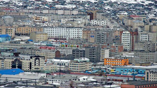 Панорама города Магадана. Архивное фото