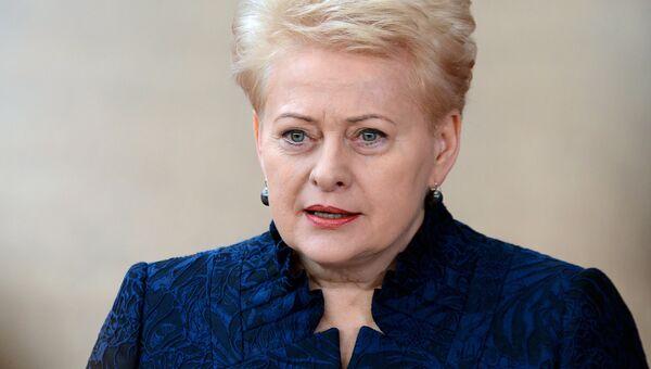 Президент Литвы Даля Грибаускайте. Архивное фото