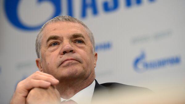 Заместитель председателя правления компании Газпром Александр Медведев на пресс-конференции на тему Экспорт и повышение надежности поставок газа в Европу